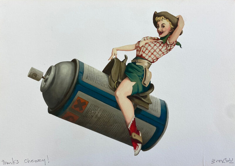 Banksy, 'Rodeo Girl - Cans Festival Gift Print', 2008, Ephemera or Merchandise, Digital Print, The Drang Gallery