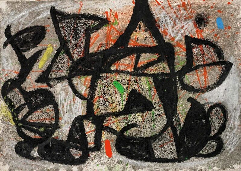Joan Miró, 'Sans Titre ', 181, Drawing, Collage or other Work on Paper, Gouache, watercolor, pastel and brush and black ink on paper, Martin Lawrence Galleries