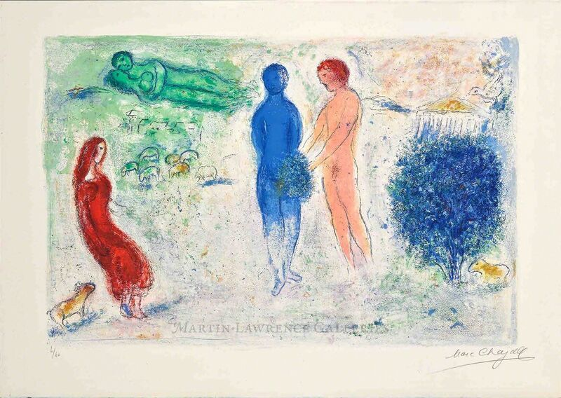 Marc Chagall, 'Chloé's Judgment (Daphnis & Chloé, M.315)', 1961, Print, Hand-signed lithograph, Martin Lawrence Galleries