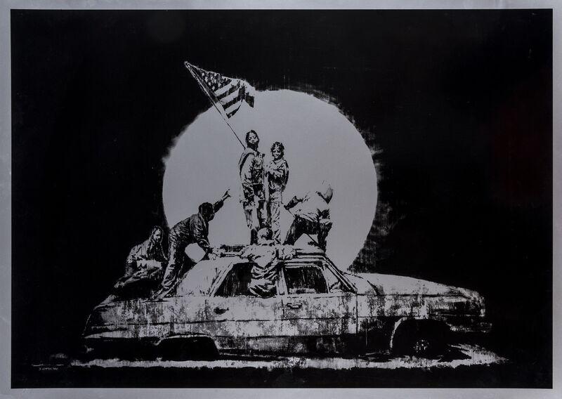 Banksy, 'Silver Flags', 2006, Print, Screenprint, Forum Auctions