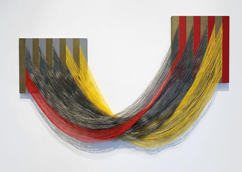 Liz Collins (American), 'Royal Embrace', 2019, Textile Arts, Acrylic on canvas, PVC, yarns, Luis De Jesus Los Angeles
