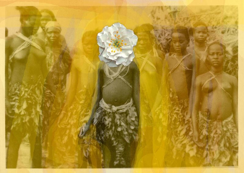 Owanto, 'Flowers VI', 2019, Photography, UV print on aluminium with cold porcelain flower, Sakhile&Me