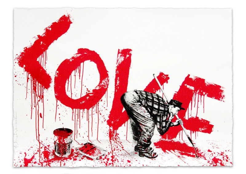 Mr. Brainwash, 'All You Need Is', 2018, Mixed Media, Screenprint with hand painting on archival paper, Taglialatella Galleries