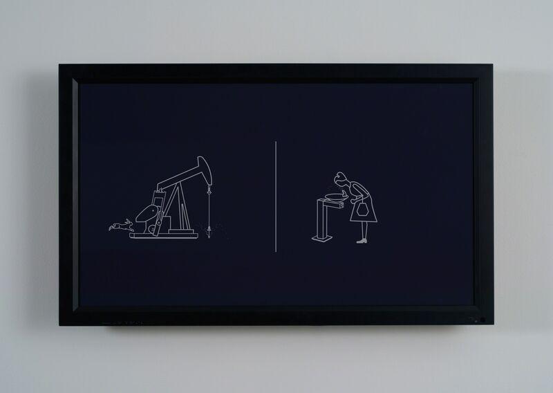 Marina Zurkow, 'The Thirsty Bird', 2012, Video/Film/Animation, Video (black and white, silent), bitforms gallery
