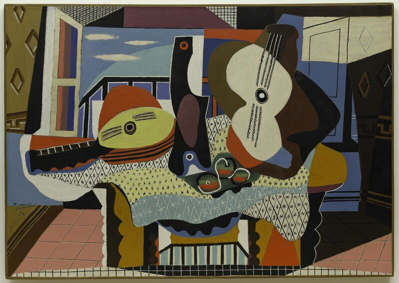 Pablo Picasso, 'Mandoline et guitare', 1924, Painting, Oil with sand on canvas, Guggenheim Museum Bilbao
