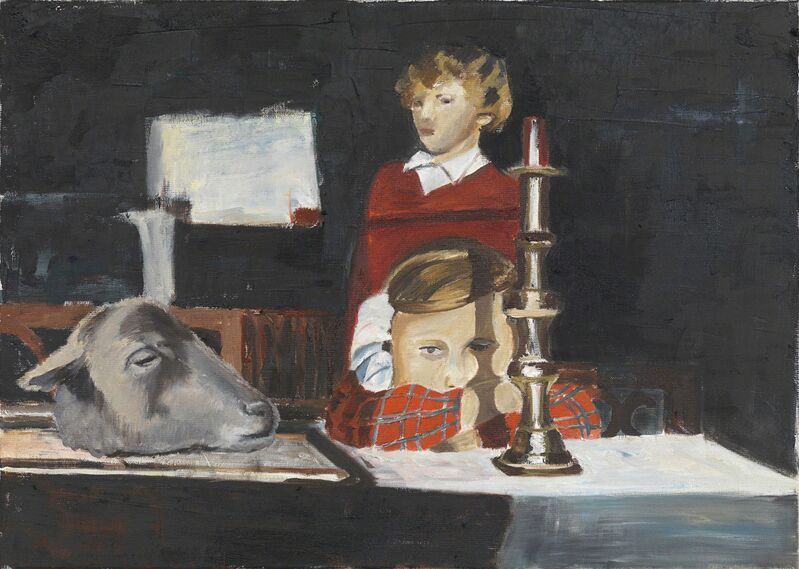 Amelie von Wulffen, 'Untitled (girl, candleholder, sheep)', 2014, Painting, Oil on Canvas, Freedman Fitzpatrick