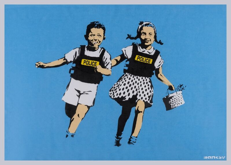 Banksy, 'Jack and Jill (Police Kids)', 2005, Print, Screenprint in colours, Forum Auctions