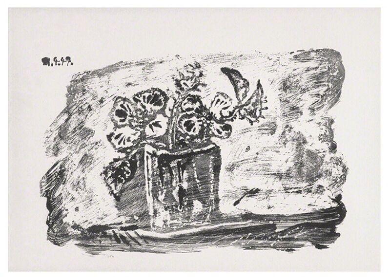 Pablo Picasso, 'Le Petit Pot de Fleurs', 1947, Print, Lithograph on Wove paper, michael lisi / contemporary art