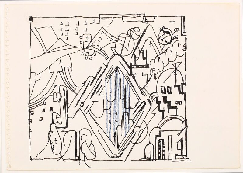 Eduardo Paolozzi, 'Two untitled drawings', Drawing, Collage or other Work on Paper, Chiswick Auctions