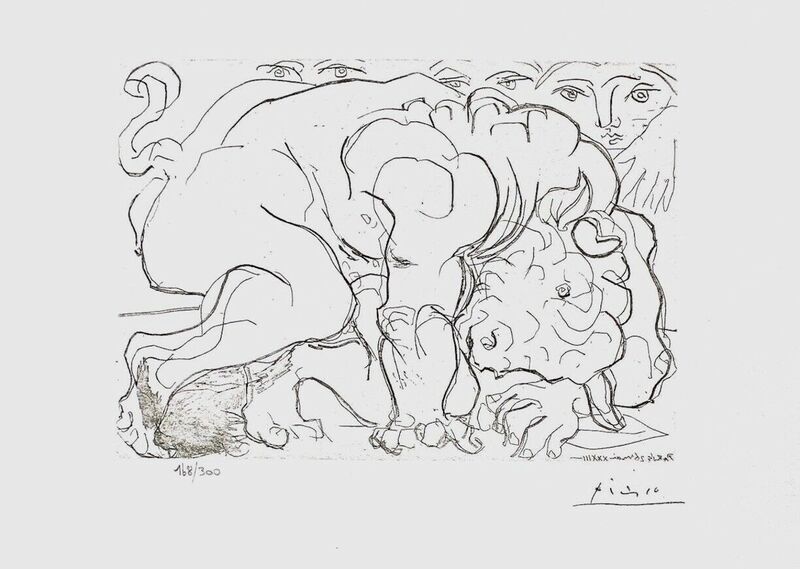 Pablo Picasso, 'Dying Minotaur', 1990, Reproduction, Lithograph on wove paper, Art Commerce