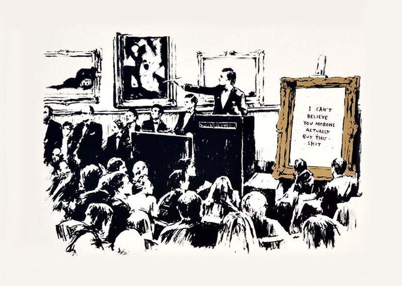 Banksy, ''Morons' (Unsigned)', 2007, Print, Screen Print, ArtLife Gallery