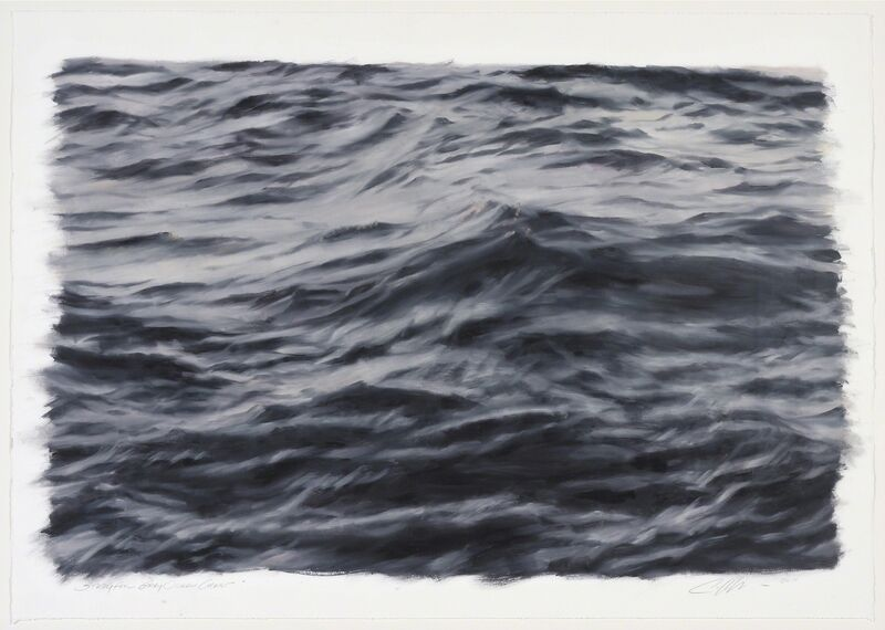Clifford Smith, 'Study for Gray Ocean Crest', 2011, Painting, Oil on Paper, Gerald Peters Gallery