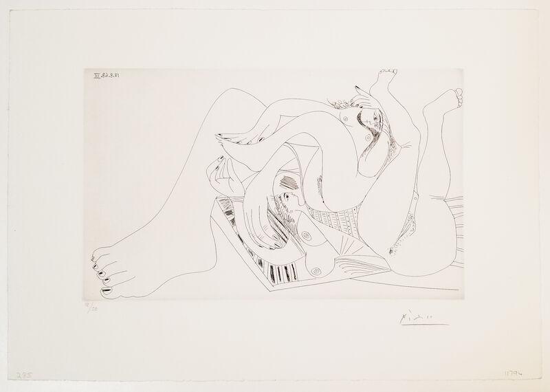 Pablo Picasso, 'Deux Femmes Batifolant sur un Matelas de Plage, from 347 Series', 1968, Print, Etching, Leslie Sacks Gallery