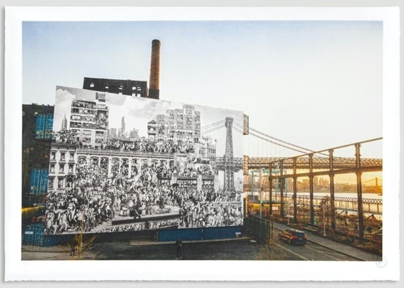 JR, 'The Chronicles of New York City, Domino Park, USA', 2020, Print, 20 colors lithograph on white paper BFK Rives - 300 grams, Weng Contemporary