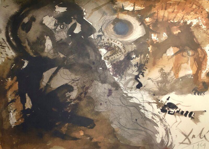 Salvador Dalí, 'Leviathan, Biblia Sacra', 1967, Mixed Media, Original Lithograph, Inviere Gallery