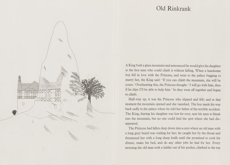 David Hockney, 'Old Rinkrank [Tokyo 96]', 1969, Books and Portfolios, Series of 5 etchings with aquatint on W. S. Hodgkinson wove in a concertina style book, Roseberys