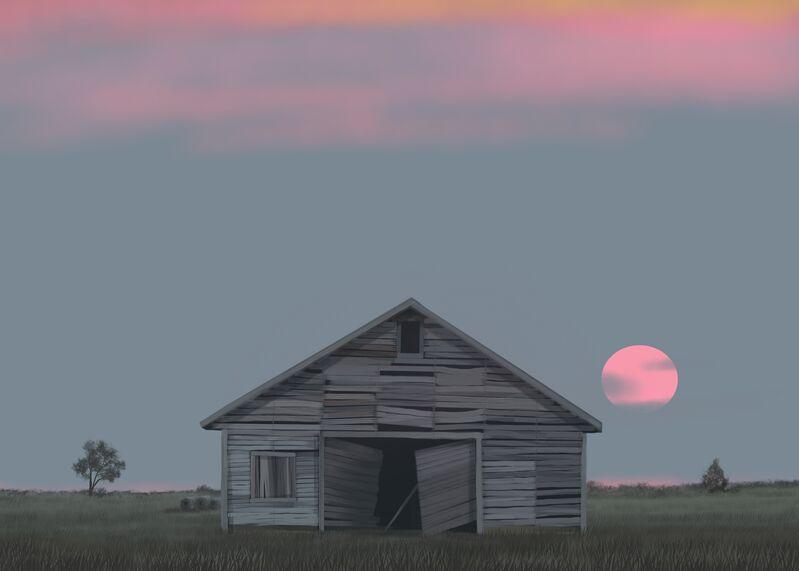 Michael Burton, 'July 31st (Close to the Edge Where I Can't Look Back)', 2021, Print, Digital print on canvas, Kiechel Fine Art