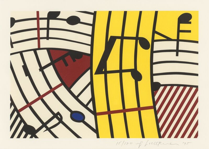 Roy Lichtenstein, 'Composition IV', 1995, Print, Silkscreen in colors on Rives BFK paper, Heritage Auctions
