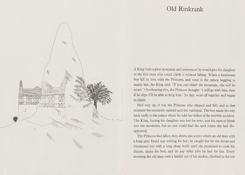 David Hockney, 'Old Rinkrank [Tokyo 96]', 1969, Books and Portfolios, Series of five etchings with aquatint on W. S. Hodgkinson wove in a concertina style book, Roseberys