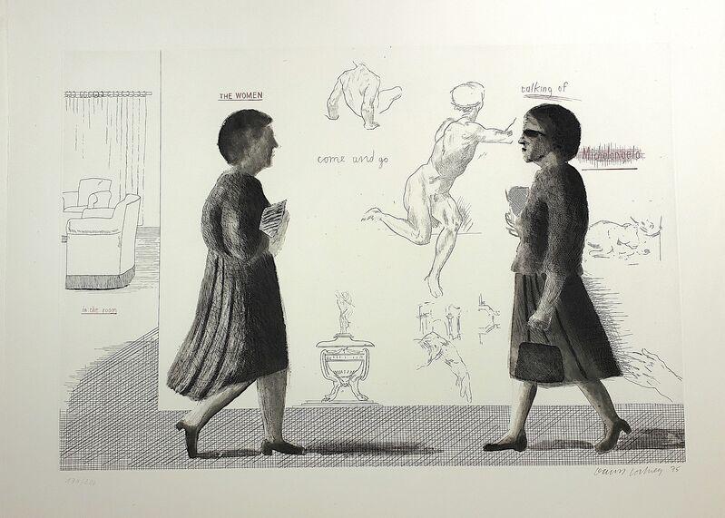 David Hockney, 'Homage to Michelangelo', 1975, Print, Etching and aquatint, G. W. Einstein Company, Inc