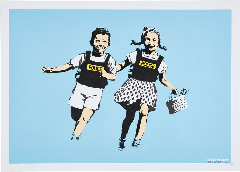 Banksy, 'Police Kids (Jack and Jill)', 2005, Print, Screenprint in colors, on wove paper, with full margins., Phillips