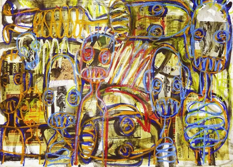 Aboudia, 'Everybody is sorry but no one is responsible', 2014, Mixed Media, Mixed media on canvas, Ethan Cohen Gallery