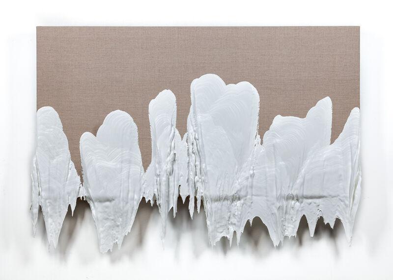 Roxy Paine, 'PMU no. 44', 2018, Painting, Aluminum, stainless steel, computer, electronics, relays, custom software, acrylic, servo motors, pump, precision track, glass, rubber, Kavi Gupta