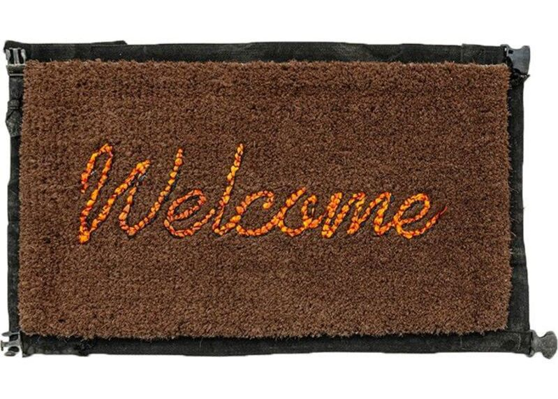 Banksy, 'Welcome Mat', 2020, Design/Decorative Art, Refugee Life Vest / Migrant Life Jacket, Hicks Contemporary