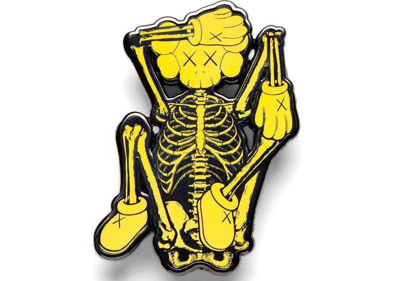 KAWS, 'KAWS x NGV Skeleton Pin (Yellow)', 2019, Design/Decorative Art, Pin, Curator Style