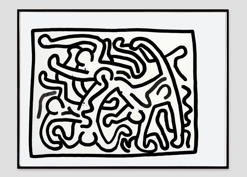 Keith Haring, 'Untitled #16', 1988, Drawing, Collage or other Work on Paper, Sumi ink on paper, Opera Gallery