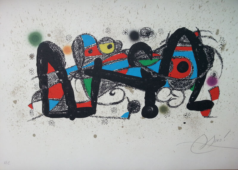 Joan Miró, 'Escultor', 1974, Print, Lithography, Art Works Paris Seoul Gallery