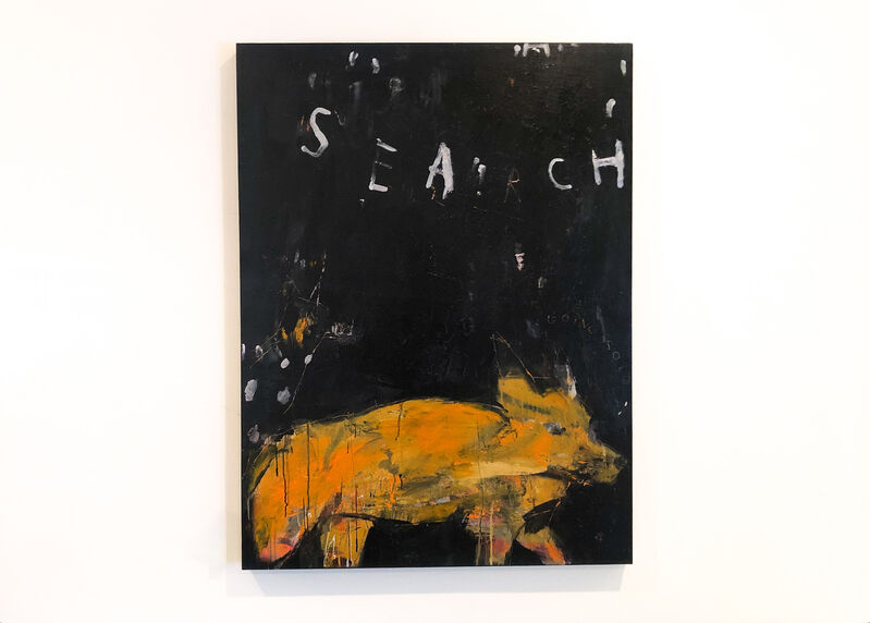 Gino Belassen, 'Search Party', 2019, Painting, Acrylic, Pastel, Colored Pencil, Spray Paint on Panel, Belhaus