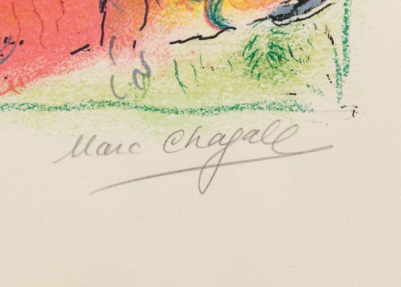 Marc Chagall, 'Nous habitons parmi les fleurs... (from Sur la terre des Dieux)', 1967, Print, Color lithograph, Hindman