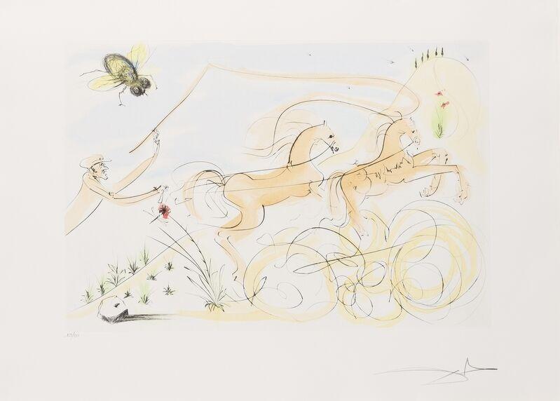 Salvador Dalí, 'Le Bestiaire de la Fontaine Dalinise (Michler & Lopsinger 653-664)', 1974, Print, The complete set of 12 drypoints with pochoir in colours, Forum Auctions