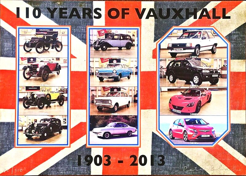 Peter Blake, '110 Years of Vauxhall', 2013, Print, Silkscreen on Linen. Hand signed and numbered from the limited edition of 100., Alpha 137 Gallery