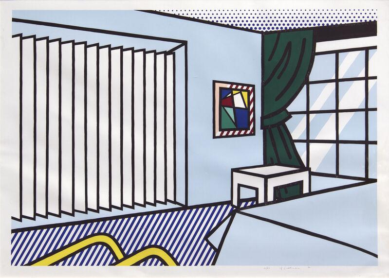 Roy Lichtenstein, 'Bedroom ', 1991, Print, 10-color woodcut screenprint, Heather James Fine Art