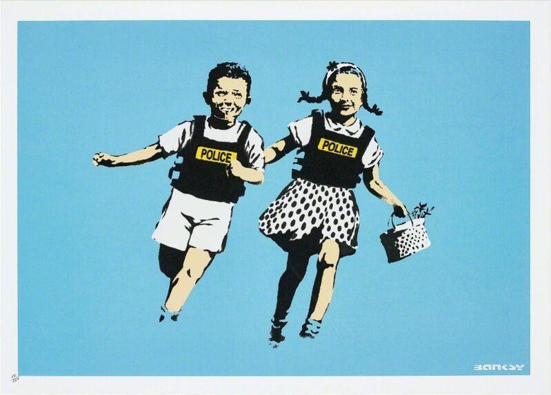 Banksy, 'Jack & Jill (Police Kids)', 2005, Print, Screenprint in colors, David Benrimon Fine Art