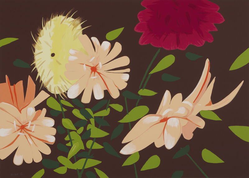 Alex Katz, 'Late Summer Flowers', 2013, Print, 38-color silkscreen on 4-ply museum board, Artsy x Capsule Auctions