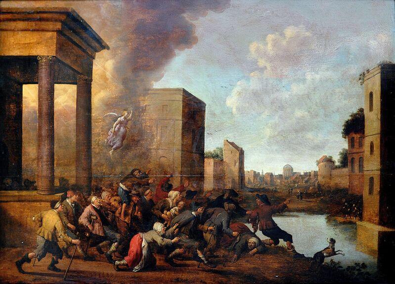 Joost Cornelisz Droochsloot, 'The pool of Bethesa', 1645, Painting, Óleo sobre lienzo, Gabarron Foundation