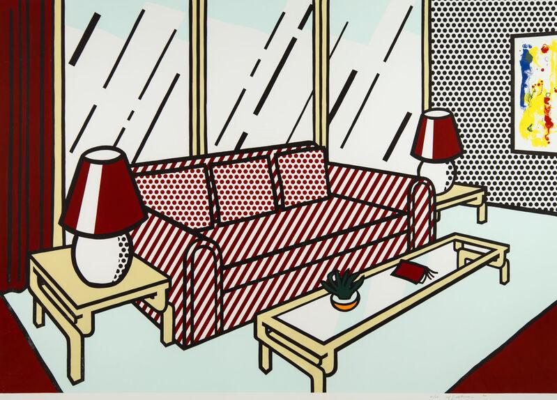 Roy Lichtenstein, 'Red Lamps', 1990, Print, Woodcut, and screenprint on museum board, Ronald Feldman Gallery