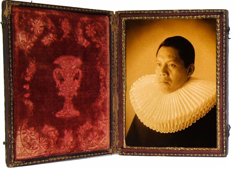 Luis González Palma, 'Guardaspuldas 8 (body guard)', 2009, Photography, Gold toned ambrotype with antique case, Lisa Sette Gallery