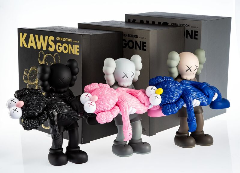 KAWS, 'Gone, set of three', 2019, Sculpture, Painted cast vinyl, Heritage Auctions