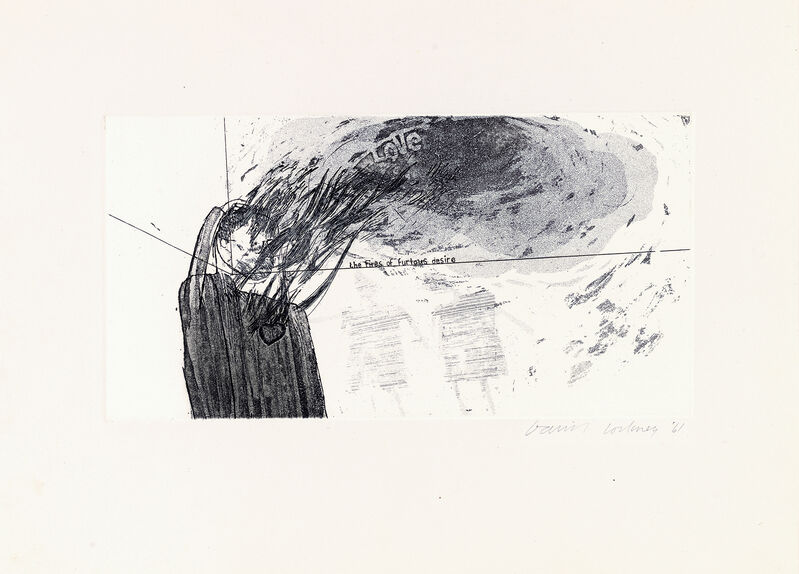 David Hockney, 'Fires of Furious Desire', 1961, Print, Etching and aquatint., Lyndsey Ingram