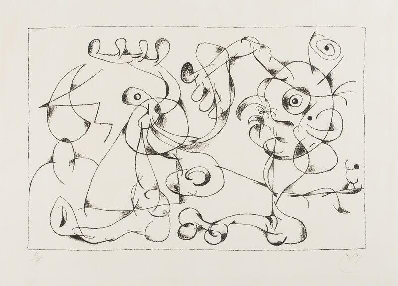 Joan Miró, 'Les Nobles à la Trappe I (from Ubu Roi) (Mourlot 410)', 1966, Print, Lithograph, Forum Auctions