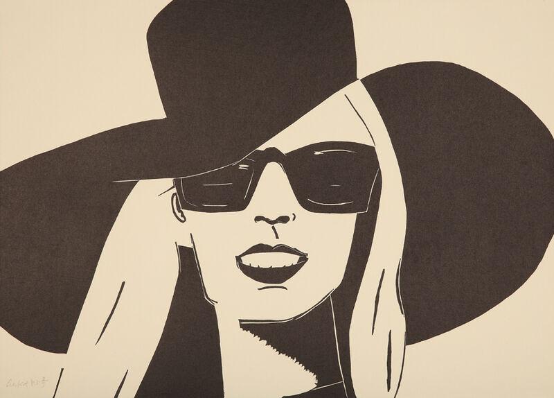 Alex Katz, 'Black Hat (Nicole)', 2011, Print, Woodcut, Galerie Boisseree