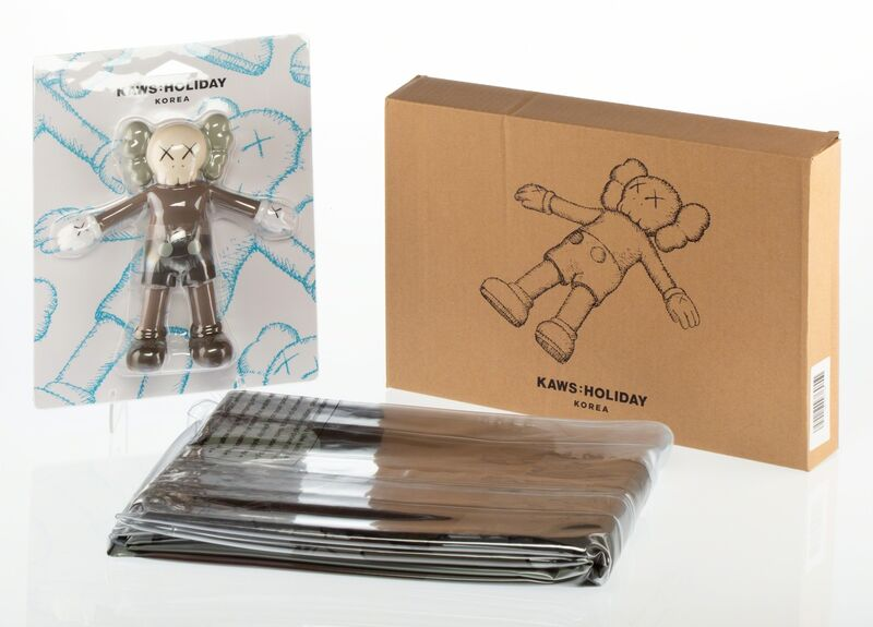 KAWS, 'KAWS: Holiday Bath Toy and Floating Bed (two works)', 2018, Other, Painted cast resin, Heritage Auctions