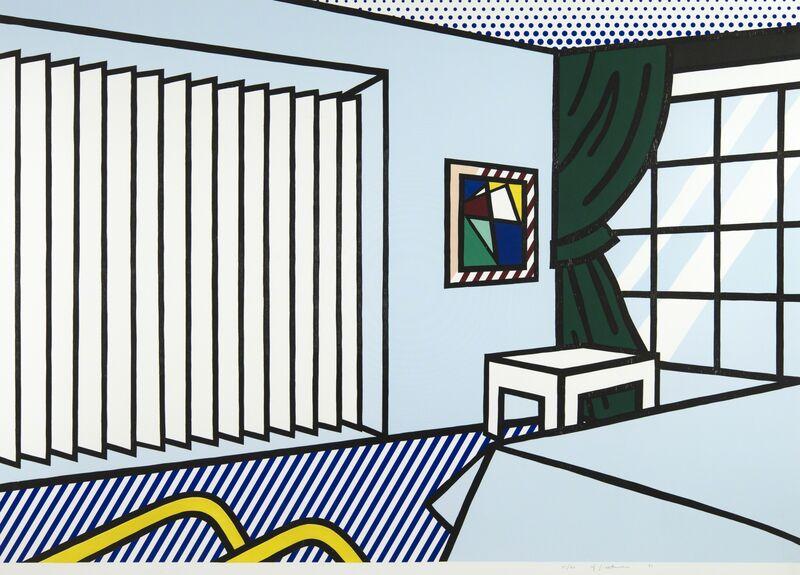 Roy Lichtenstein, 'Bedroom', 1990, Print, Woodcut and screenprint on museum board, Ronald Feldman Gallery