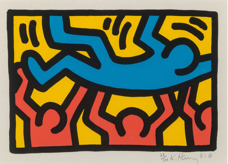 Keith Haring, 'Untitled', 1987, Print, Lithograph in colors on Rives BFK paper, David Benrimon Fine Art