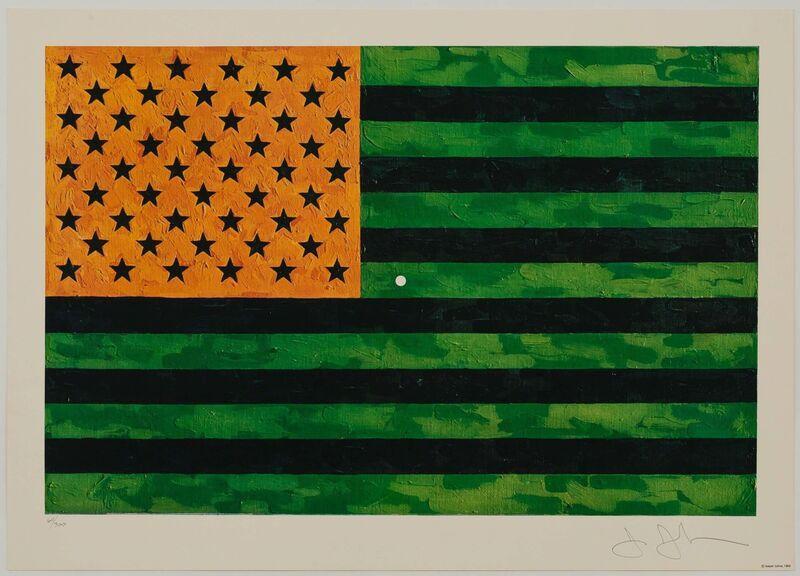 Jasper Johns, 'Flag (Moratorium)', 1969, Print, Offset lithograph in colors on wove paper, Heritage Auctions