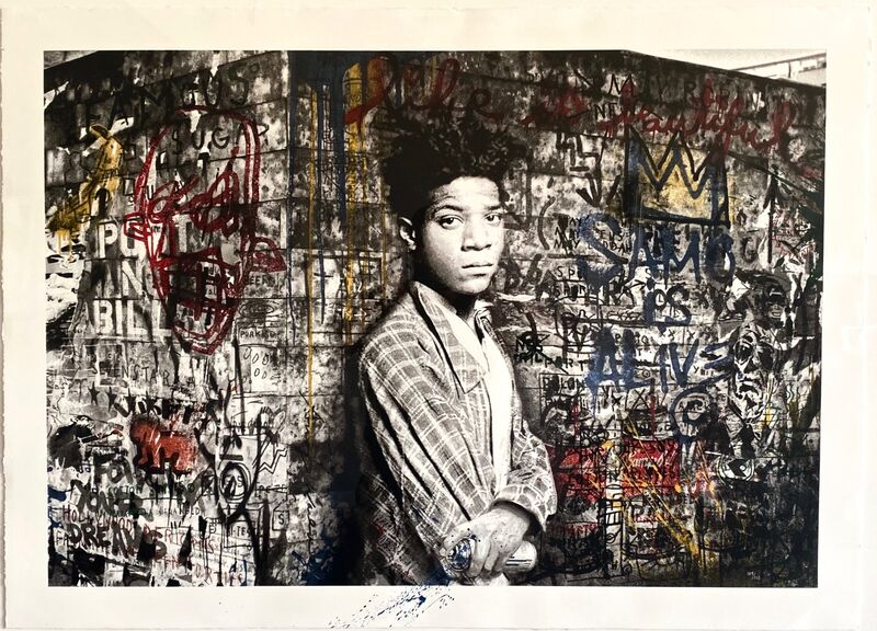 Mr. Brainwash, 'Samo is Alive', 2016, Print, Eleven-color screen-print and spray paint on hand torn archival art paper, Artsy x Forum Auctions